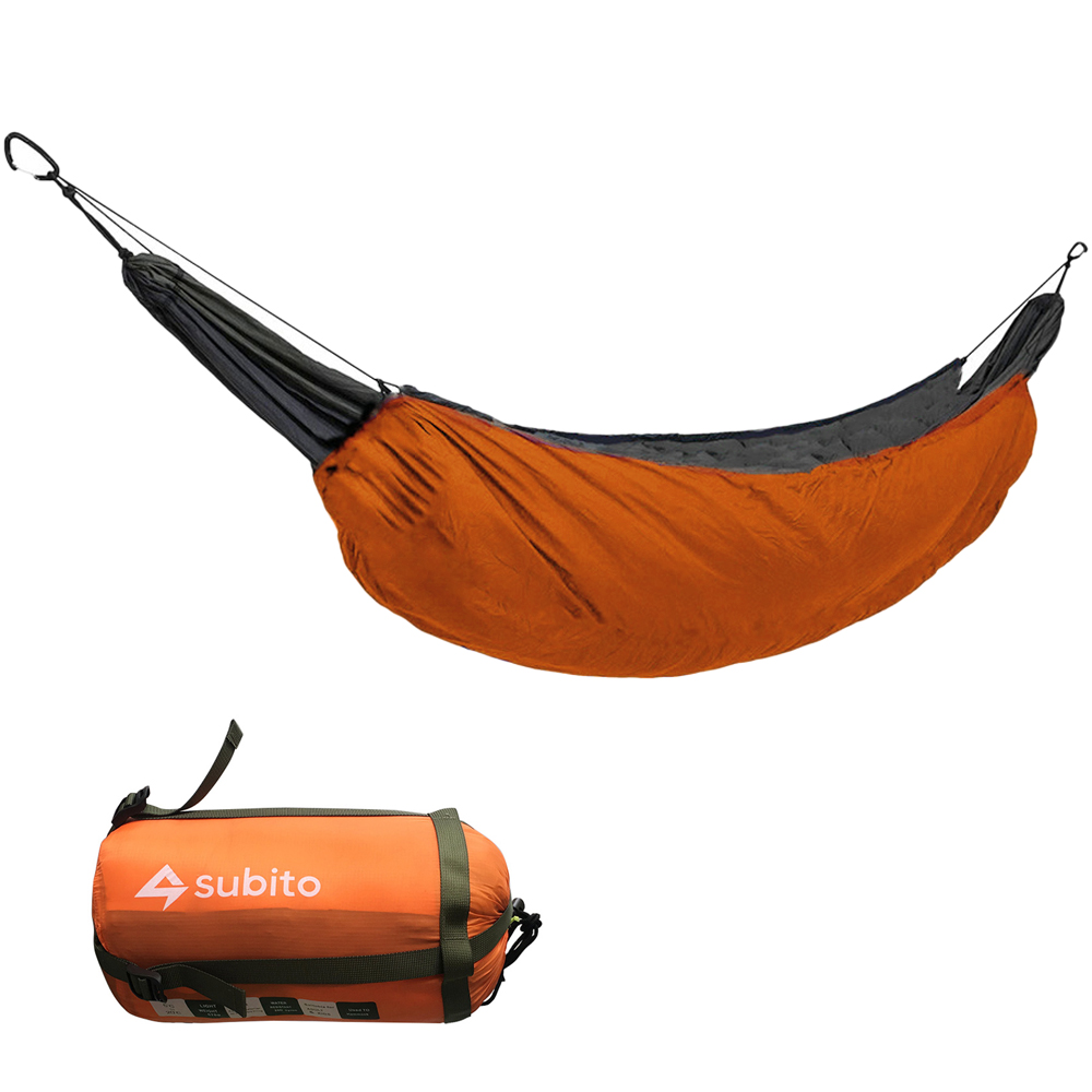 Portable Hammock Sleeping Bag Outdoor Casual Thermal Hammock Accessory for Camping 230*110 (orange)
