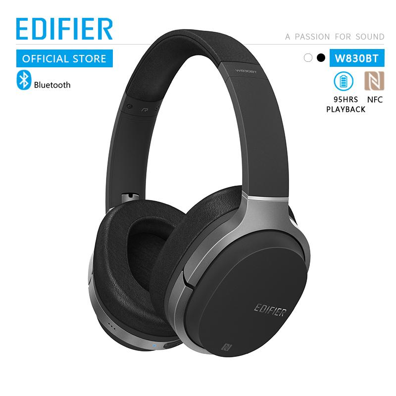 EDIFIER W830BT Wireless Headphones Bluetooth 4.1 Foldable Earphone Apt-X Codec NFC tech 95 Hours Playback with Mic black