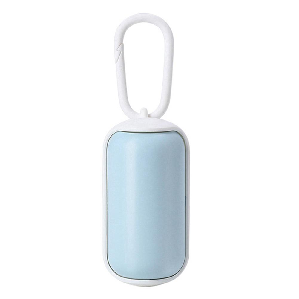 Pet Trash  Box Dog Poop Bag Portable Rubbish Dispenser Pet Cleaning Supplies Trash box + 15 trash bags_Blue+white