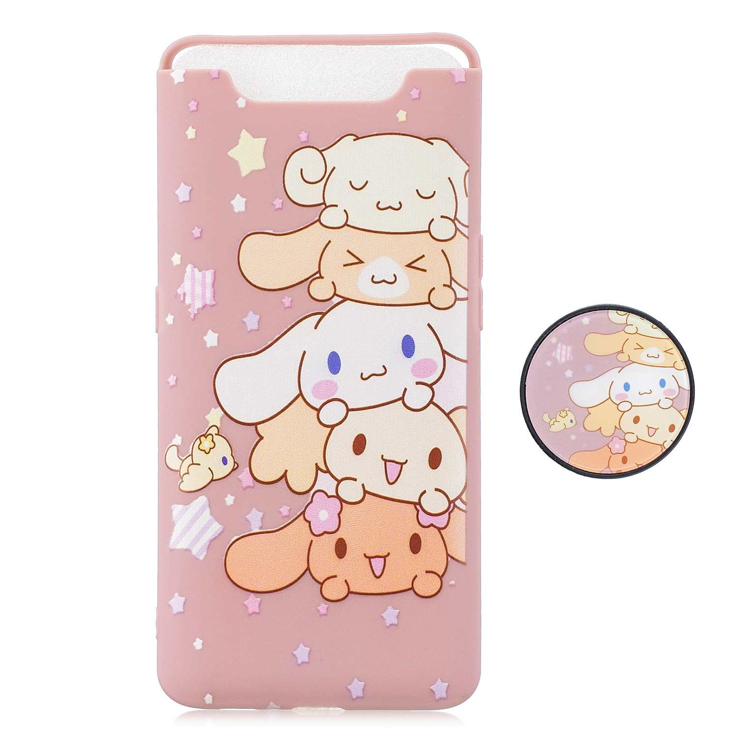 For Samsung A80 Screen Protective Shockproof TPU Full Phone Cover Cartoon Phone Case Full Body Protection Mobile Phone Case with Adjustable Bracket 1
