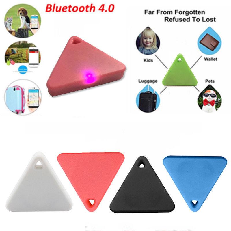 Smart Mini Waterproof Bluetooth GPS Tracker for Pet Dog Cat Keys Wallet Bag Kids red