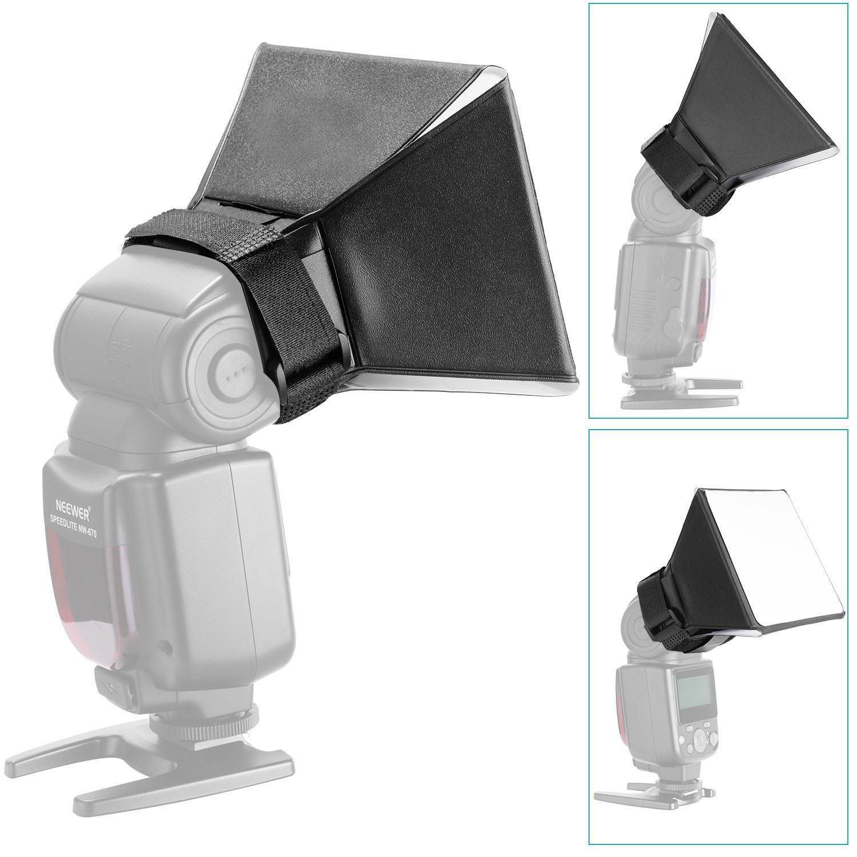 Photography Softbox Flash Diffuser Portable Bounce Softbox Kit Flash Lambency Box Softbox black