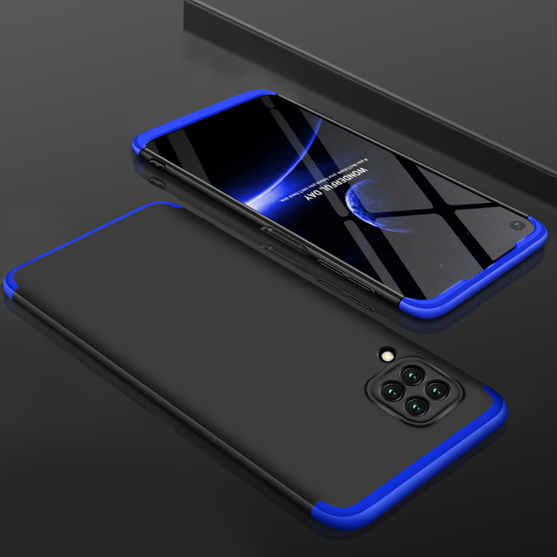 For HUAWEI Nova 6SE/P40 lite/Nova 7i Cellphone Case PC Full Protection Anti-Scratch Mobile Phone Shell Cover Blue + black