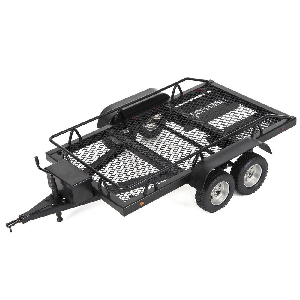 1:10 Simulation RC Car Truck Trailer Dual Axials Crawler Trx4 Scx10 90046 90047 CC01 D90 black