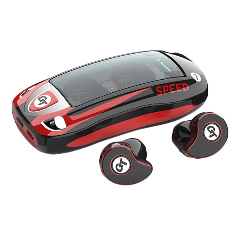 TWS HD Stereo Wireless Earphone Bluetooth 5.0 IPX5 Waterproof Headphone Sport Earbuds Gaming Headset red
