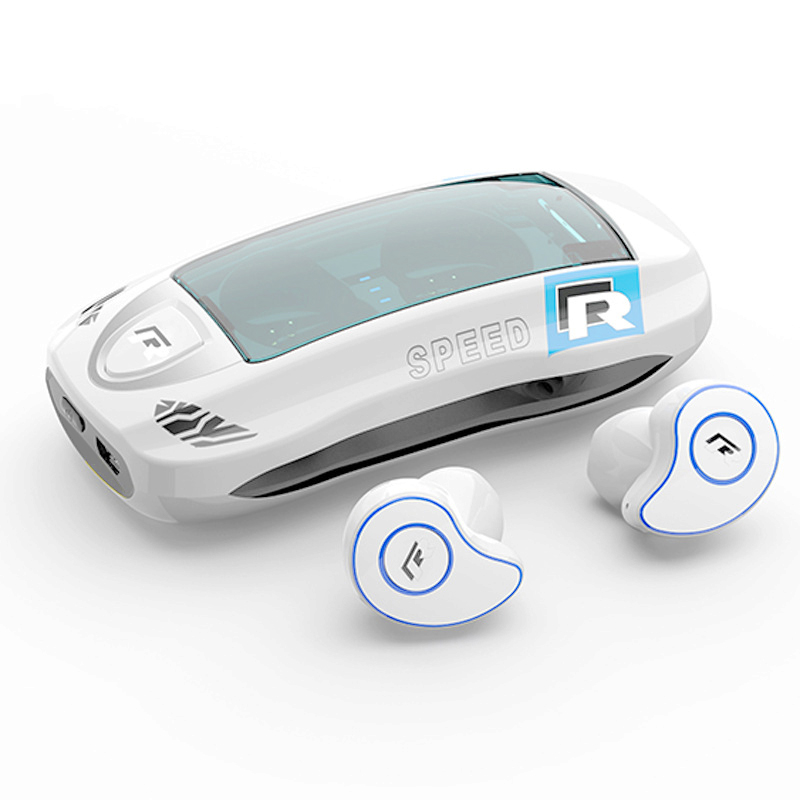 TWS HD Stereo Wireless Earphone Bluetooth 5.0 IPX5 Waterproof Headphone Sport Earbuds Gaming Headset white