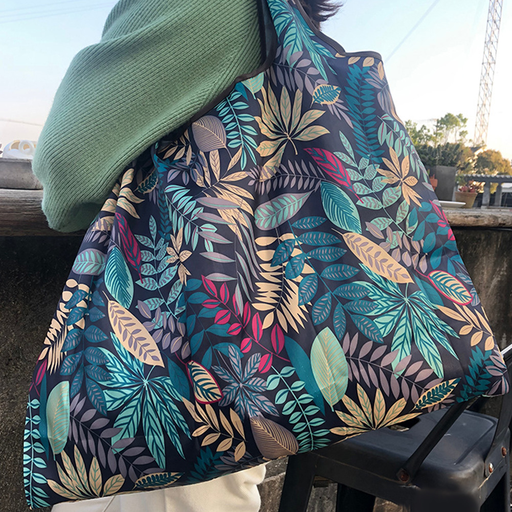 Reusable Foldable Shopping Bags Large Size Tote Bag with Handle 079_XL