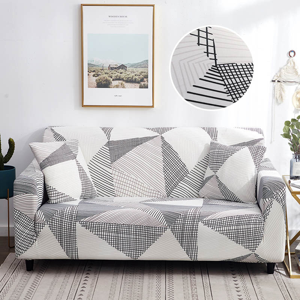 Stretch Slipcover Elastic Stretch Sofa Cover with Pillowcase for Living Room Couch Cover Three persons (applicable to 190-230cm)