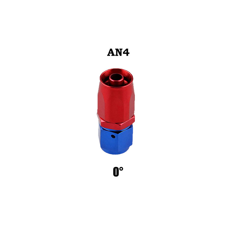 AN4 Swivel Hose End Fitting Adapter for Oil/Fuel/Gas Hose Line 0 degree
