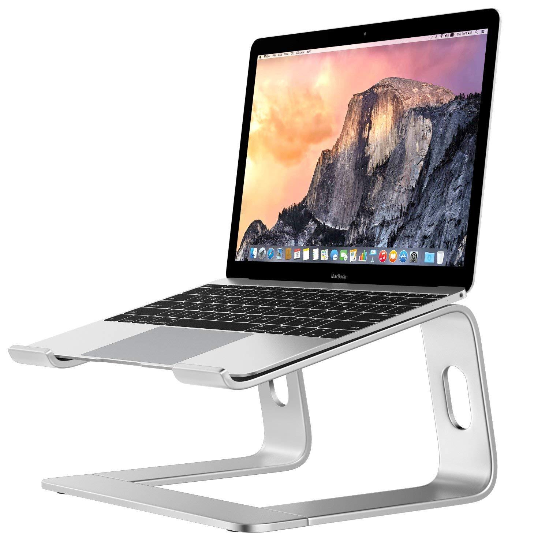 Laptop Riser Stand Universal Detachable Portable Aluminum Alloy Notebook PC Desk Holder Silver