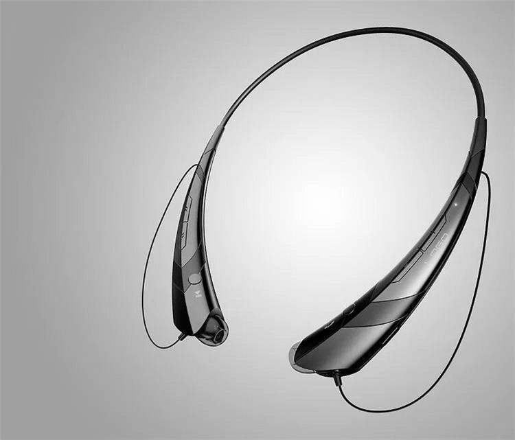Wireless Bluetooth V4.2 + EDR Headphone Stereo Sports Headset Personality Portable Gift Pure black