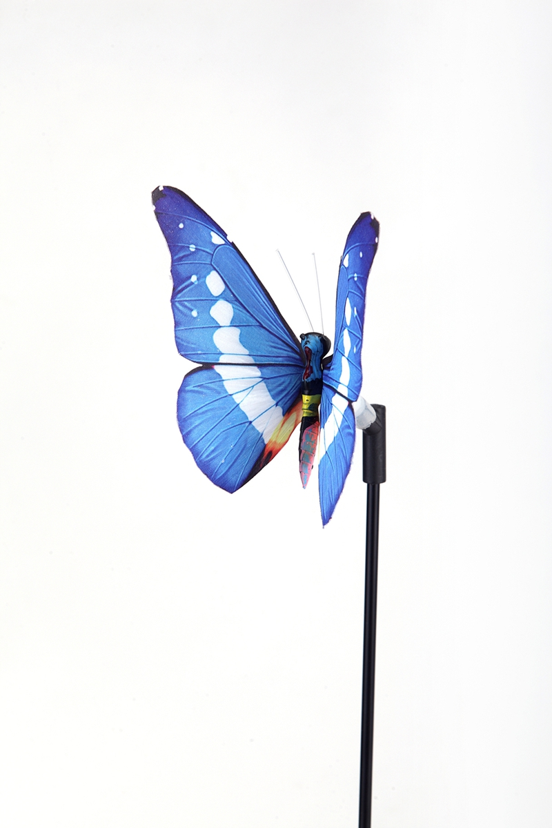 Solar 7-color cycle LED fiber optic butterfly light (2PCS/group)