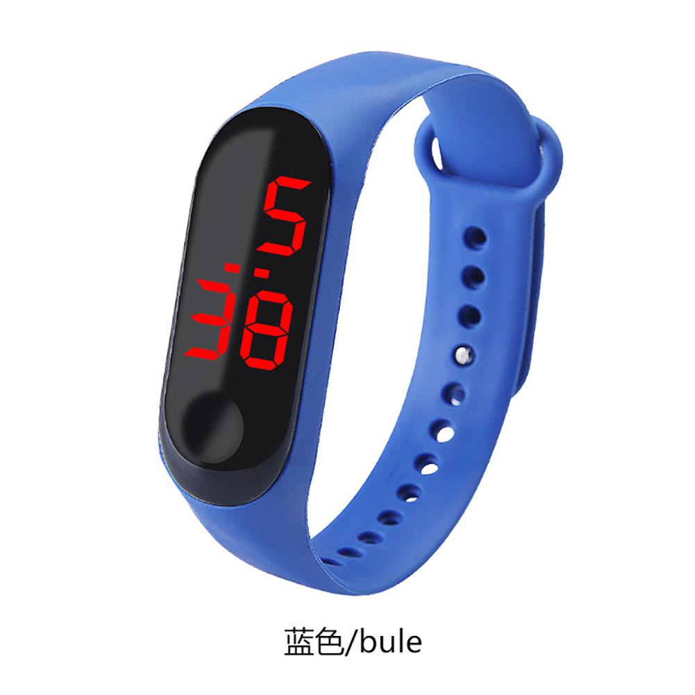 Fashion Student Couple Led Casual Sports Touch Electronic Watch Millet 3 Bracelet Watch Trend Fashion Mesh Belt Watch blue