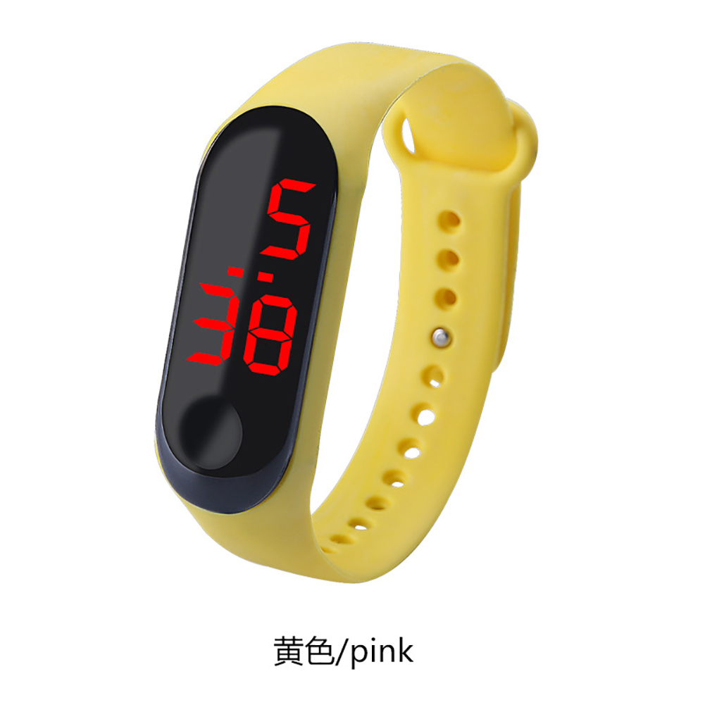 Fashion Student Couple Led Casual Sports Touch Electronic Watch Millet 3 Bracelet Watch Trend Fashion Mesh Belt Watch yellow