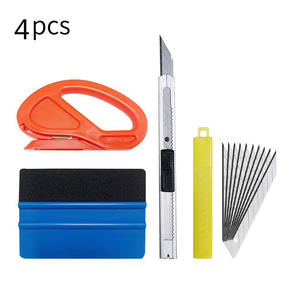 4pcs / set Car Film Tool Sticker Tool Art Knife Scraper Set Installation Kit