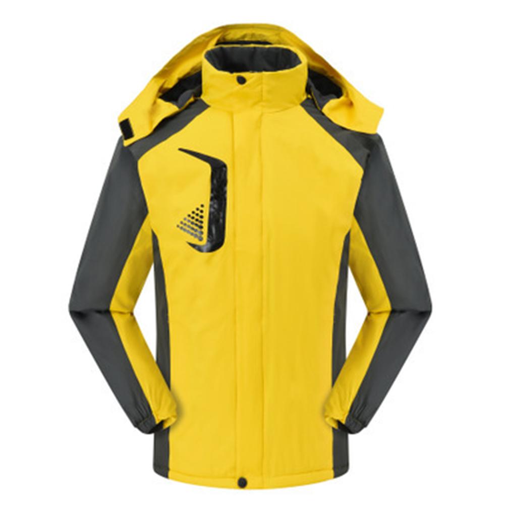 Men's and Women's Jackets Winter Velvet Thickening Windproof and Rainproof Mountaineering Clothes yellow_XXXL