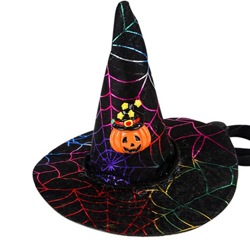 Pet Cosplay Hat Headwear for Cat Halloween Party Accessories Star hat pumpkin_One size