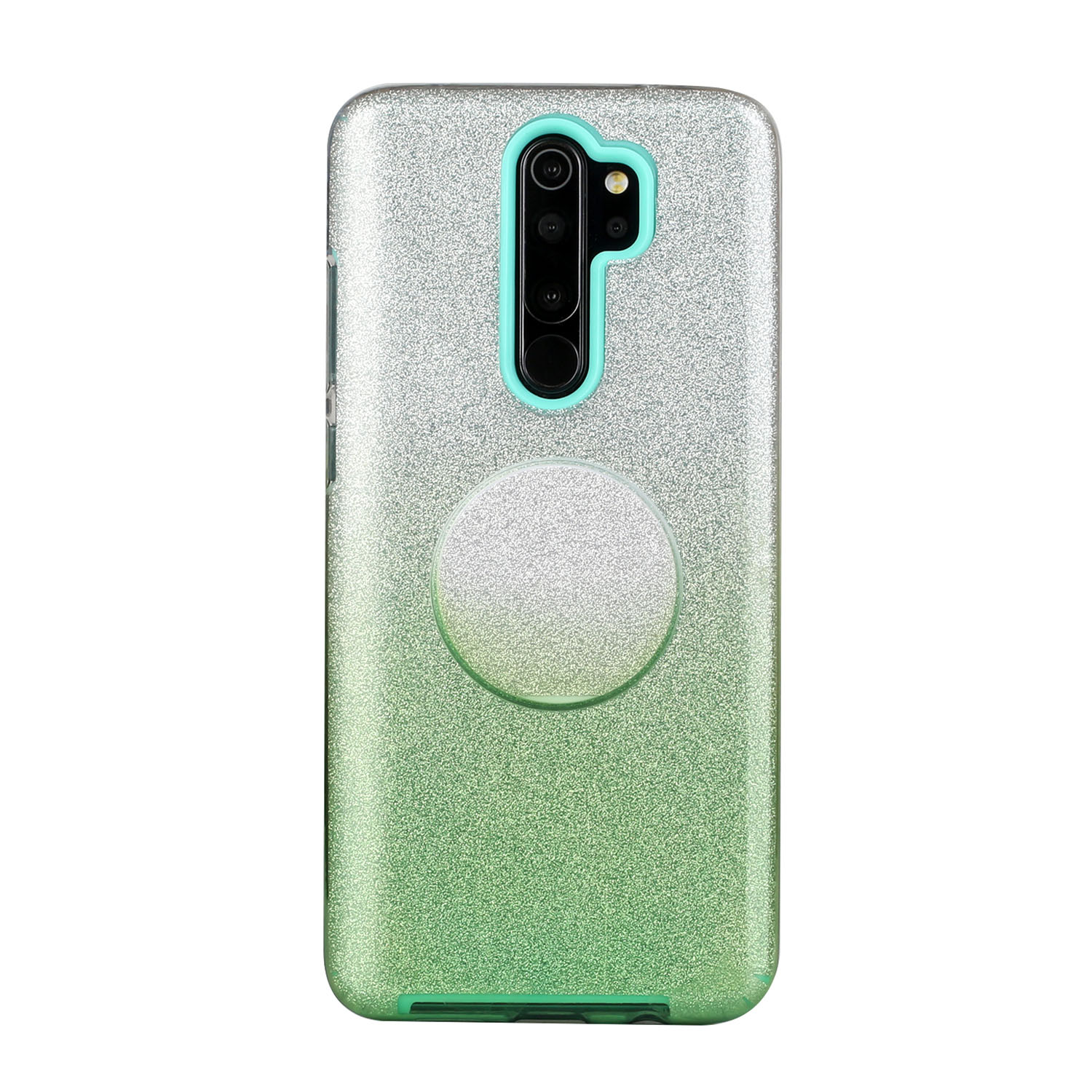 For Redmi Note 7/Note 7 pro/Note 8/Note 8 pro/8/8A Phone Case Gradient Color Glitter Powder Phone Cover with Airbag Bracket green