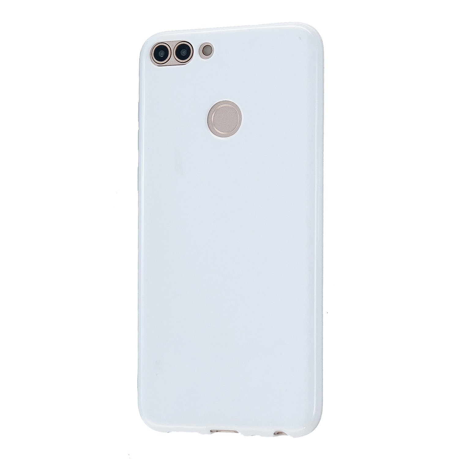 For HUAWEI Honor 7S/7A TPU Phone Case Simple Profile Flexible Soft Cellphone Cover Easy Access Shell Milk white