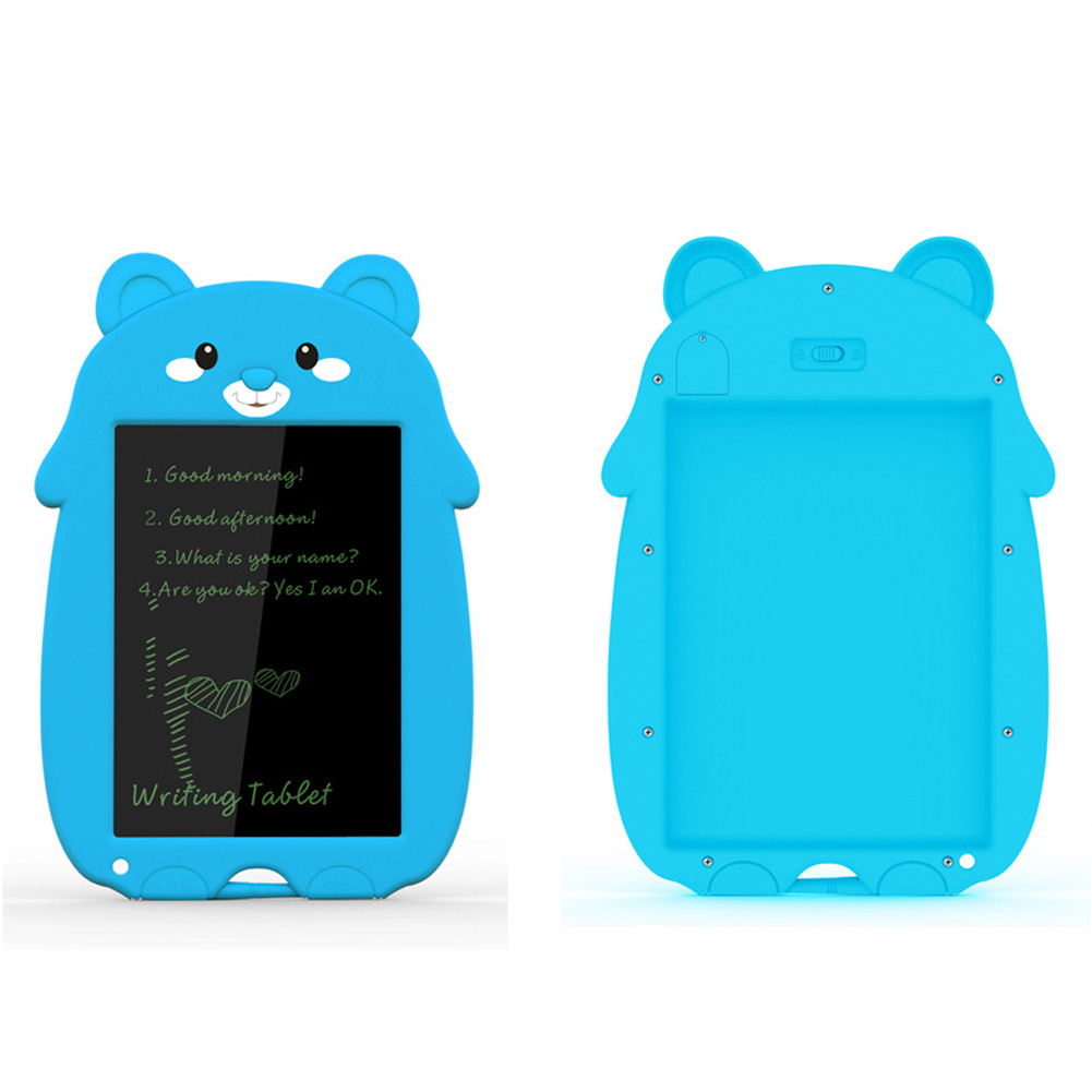 8.5 Inch Cartoon Smart Tablet Children's Smart Electronic LCD Drawing Board With Lock Blue bear