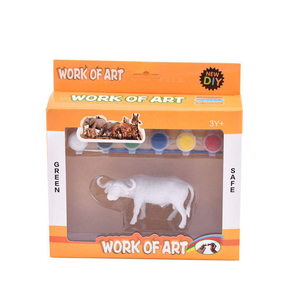 DIY Painted Simulate Animal Modeling Kids Educational Graffiti Toy