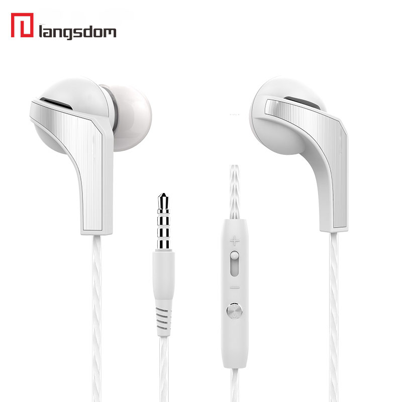 Langsdom R29 In-Ear Metal Headsets White