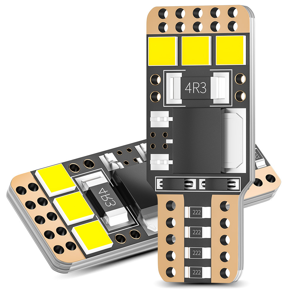 2 Pcs Car Side Positioning Lights DXZ  T10 3030 6SMD LED Bulb For Car Auto Side Wedge Tail Parking Position Light Lamp