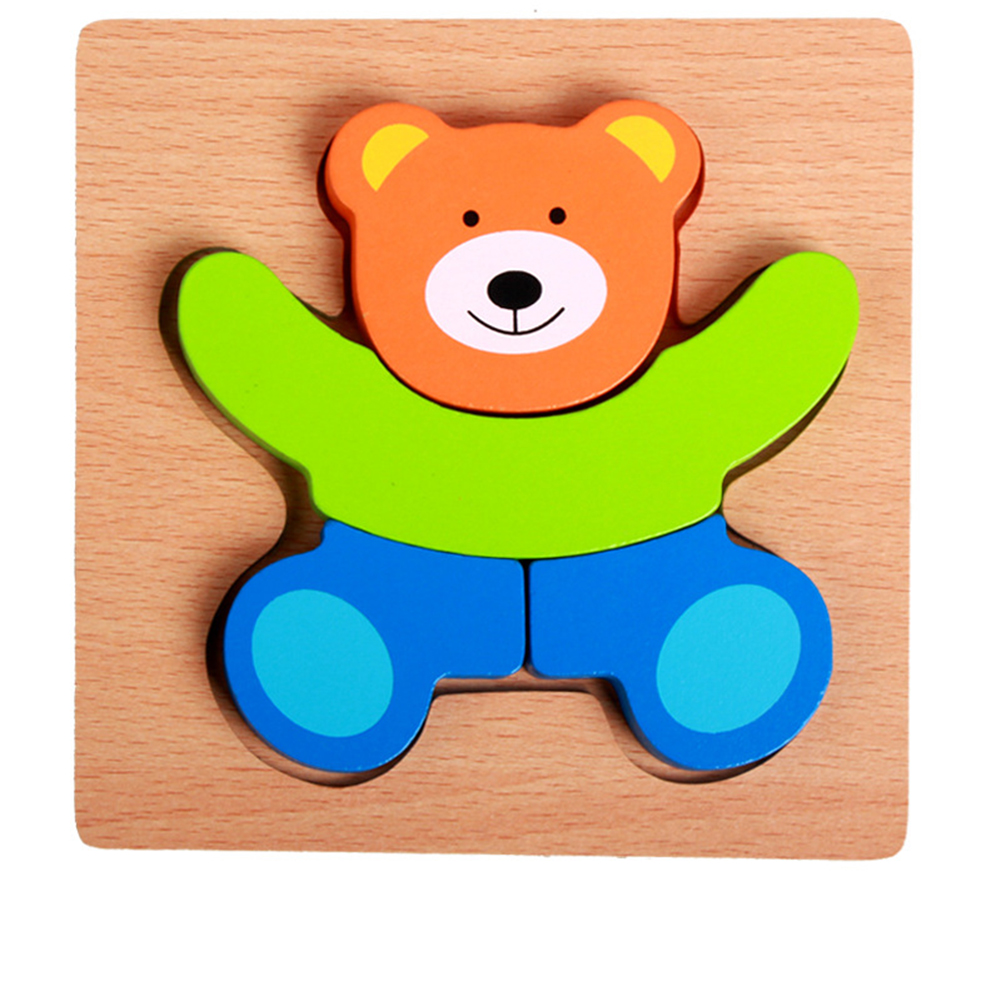 3d Wooden Puzzle  Learning Early  Educational Toys For  Children  Kids Bear