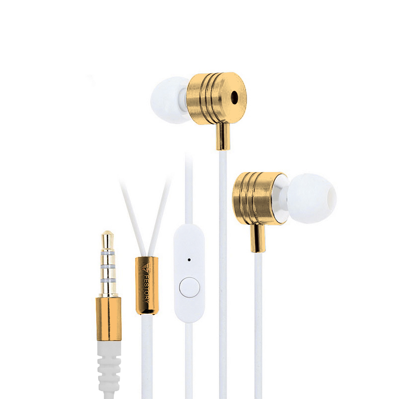 In-Ear Bass Earphones (Gold-White)