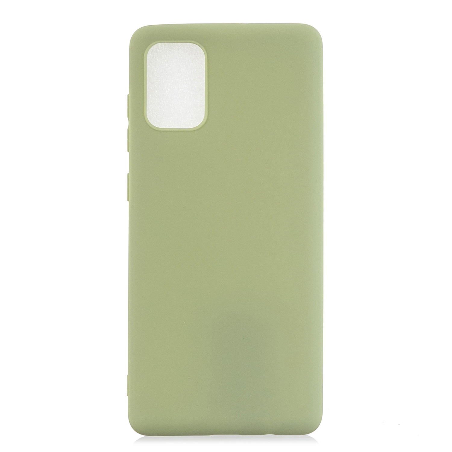 For Samsung A01/ A11/A21/A41/A51/A71/A81/A91 Mobile Phone Case Lovely Candy Color Matte TPU Anti-scratch Non-slip Protective Cover Back Case 10 beans green