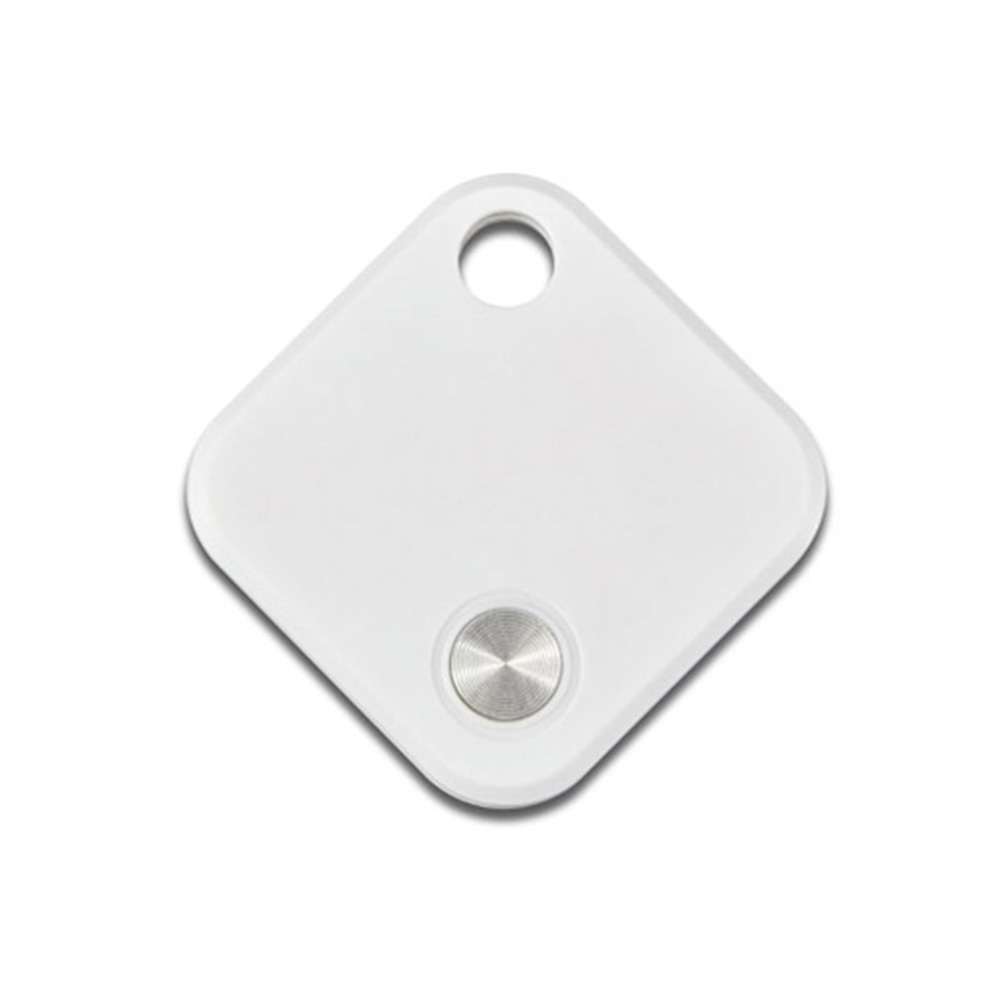 GPS Positioning Object Finder Built-in Rechargeable Battery Smart Bluetooth Tracker Locator white