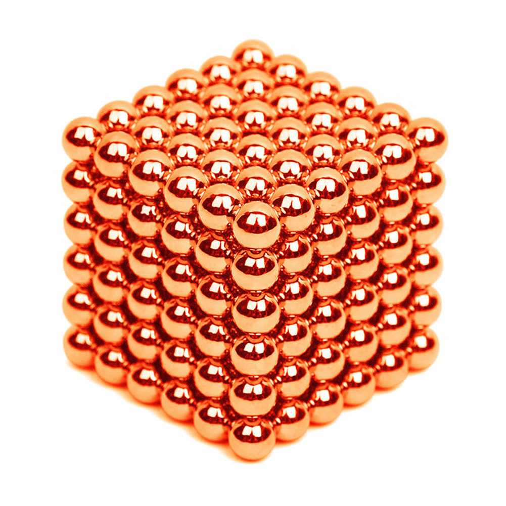 216Pcs 5mm DIY Magic Magnet Magnetic Blocks Balls Sphere Cube Beads Puzzle Building Toys Stress Reliever Orange