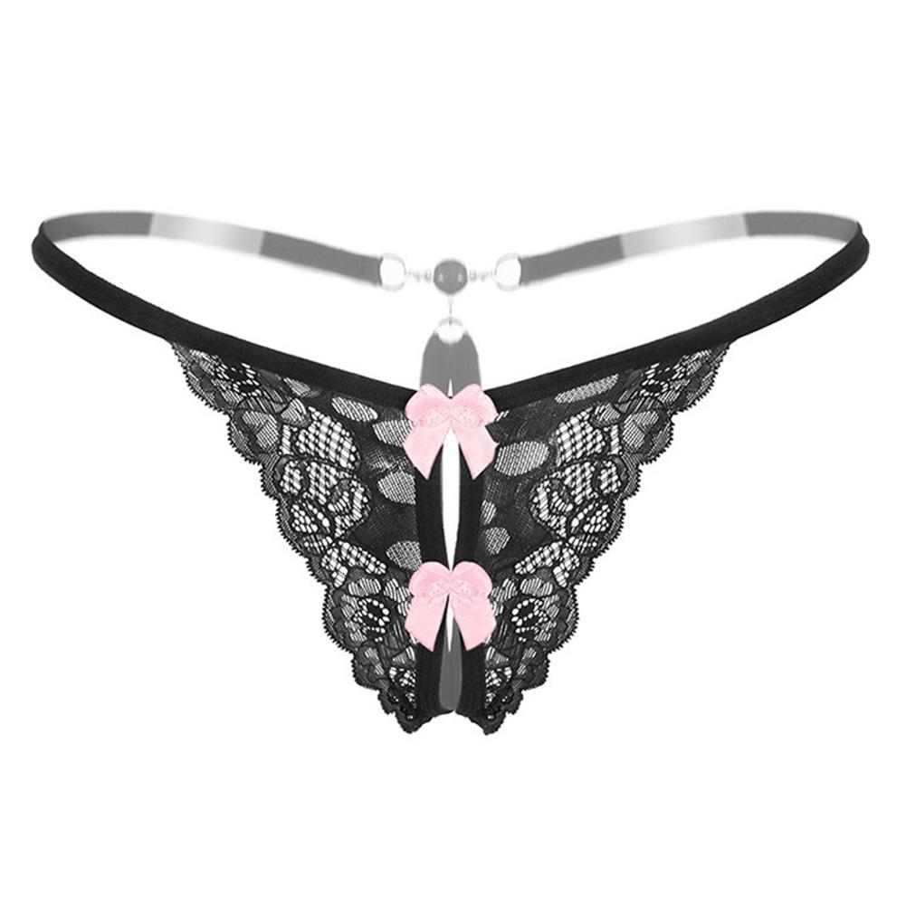 Women G-string Sexy Underwear Lace Ladies Panties Underwear Pants Thong 2162 # Black_One size