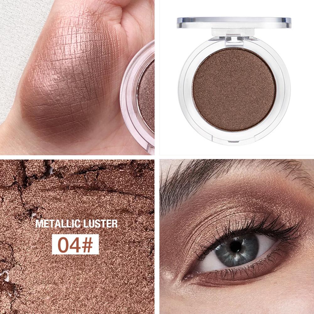 Glitter Shimmer Eyeshadow Pearlescent Eye Shadow Powder Pigment Eyeshadow Makeup Cosmetics 04 sandstone brown