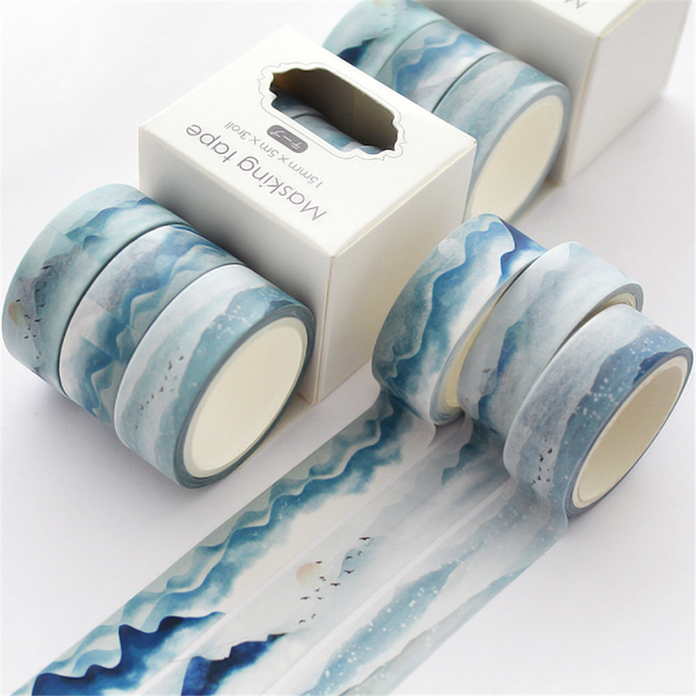 3 Rolls Decorative Tapes for DIY Craft Wrapping Scrapbook Decoration Small box