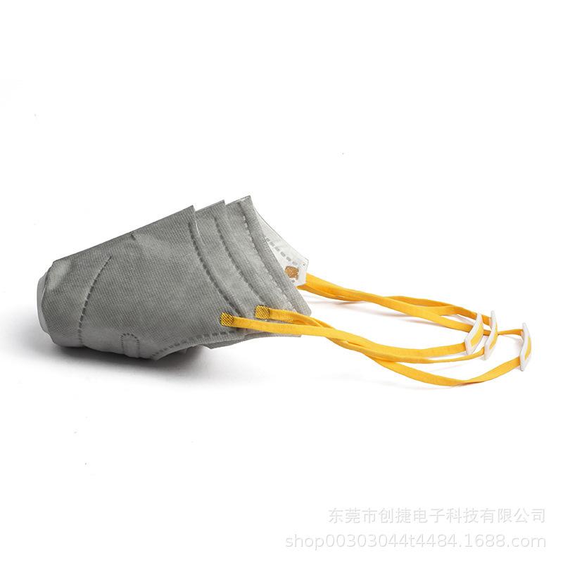 3pcs Dog Face Mouth Mask Soft Pet Respiratory Filter Anti Dust Gas Pollution Anti-fog Haze Masks Gray _S