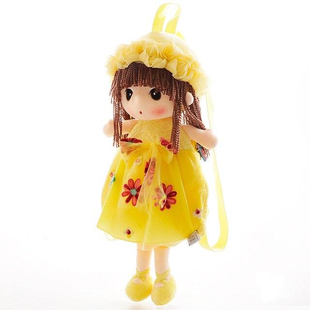 50cm Fairy Plush Backpacks Sweet Flower Doll Shoulder Bag Cartoon Children's Backpack for 2-6 Years Old Girls Birthday Gifts