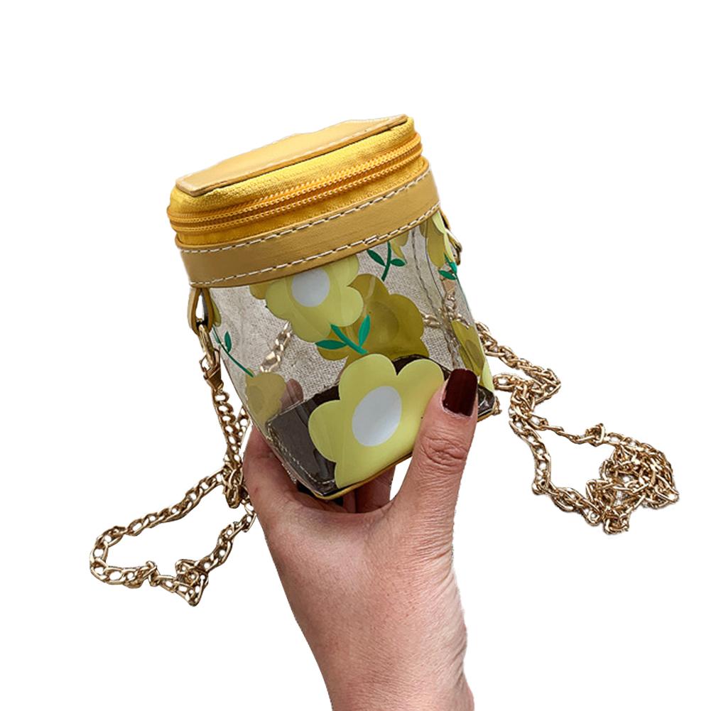 Women's Korean Version Of The Wild Transparent Jelly Chain Shoulder Fashion Cute Mini Bag yellow