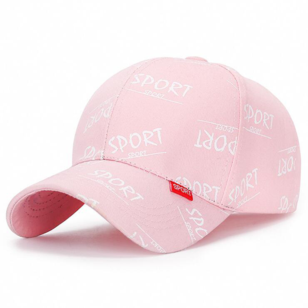 Fashion Casual Sport Letter Baseball Cap Men And Women Couple Sun Hat Pink_adjustable