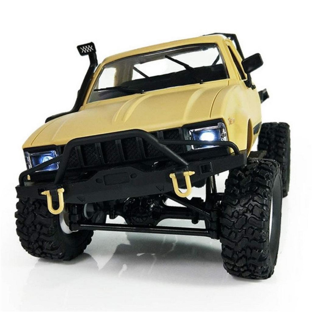 WPL C14 1:16 2CH 4WD Children RC Truck 2.4G Off-Road Car Electric RC Truck 15km/H Top Speed RTR/KIT Mini Racing Car Toy yellow_KIT