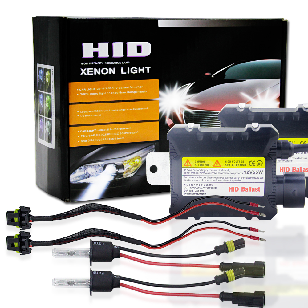 2pcs/set 55W H3 HID Xenon Headlight Bulbs Conversion KIT 3000-12000K for Car