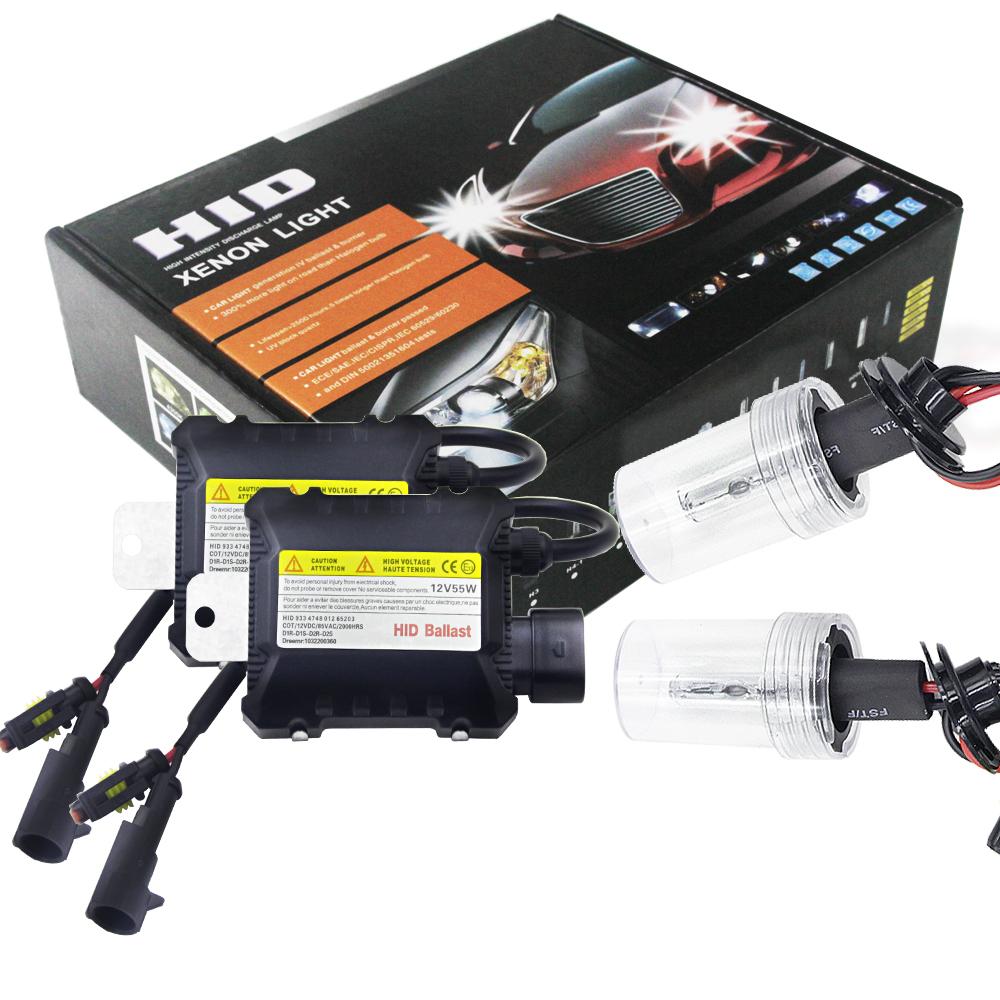2pcs/set 55W H7 HID Xenon Headlight Bulbs Conversion KIT 3000-12000K for Car