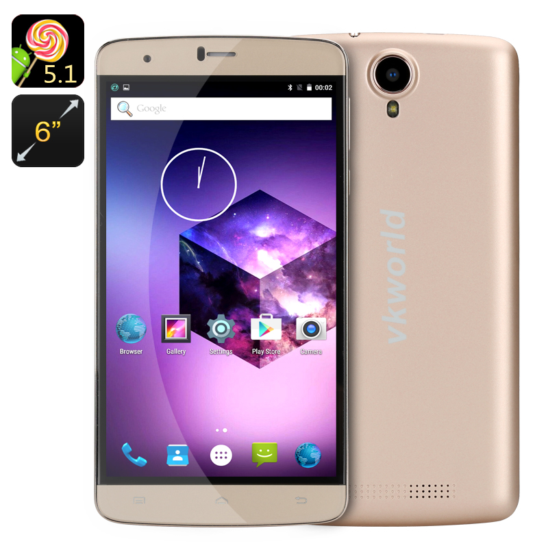 VKWorld T6 Smartphone (Gold)