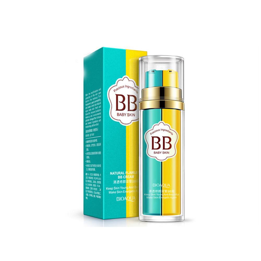 Brightening Whitening Concealer Moisturizer Long-lasting Oil Control Foundation Makeup Base Liquid Foundation BB Cream natural color