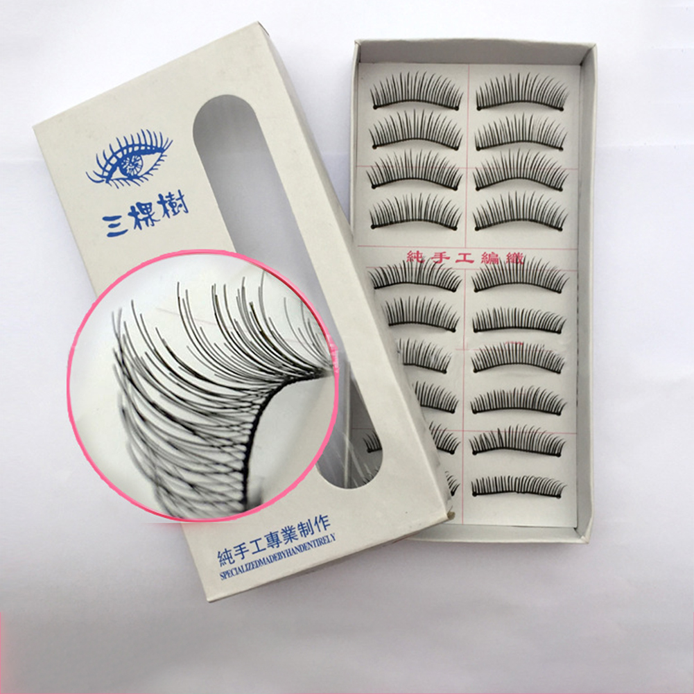 20 Pcs 3D Fake Eyelashes Natural Thick False Eye Lashes Makeup Extension  002