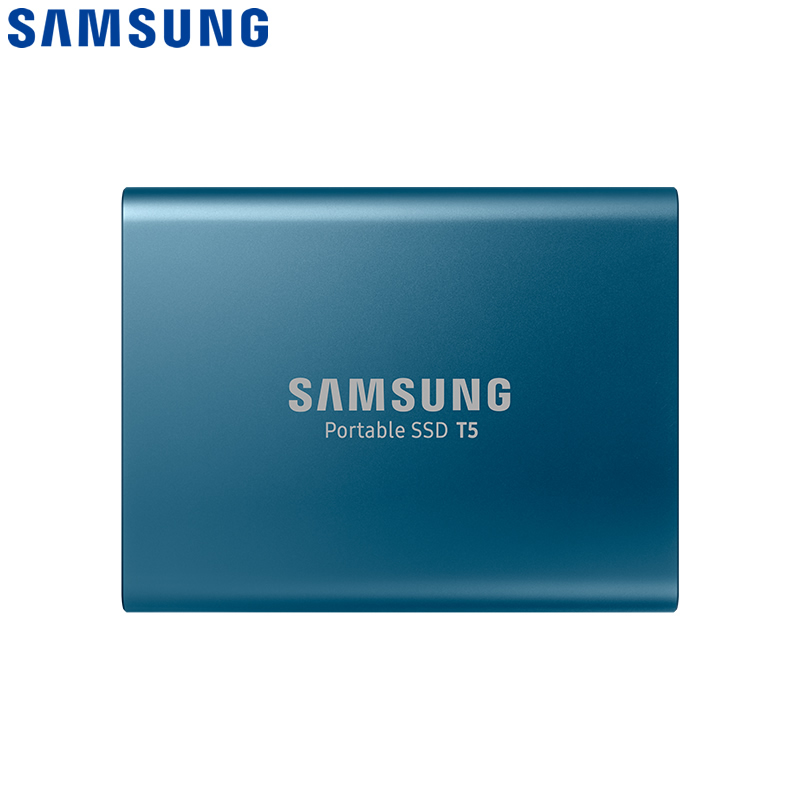 Original SAMSUNG T5 Portable SSD- Blue, 250GB