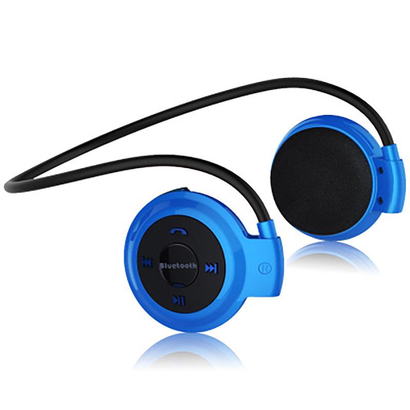 Wireless Bluetooth Headphones FM Radio Sport Music Stereo Earpics Micro SD Card Slot Headset blue