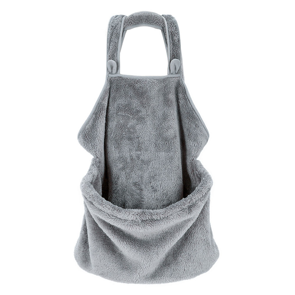 Casual Plush Surface Front Backpack Bag for Dog Cat Outdoor Use gray
