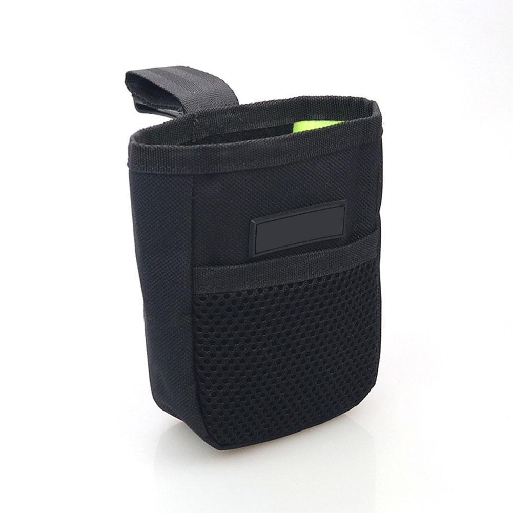 Portable Pet Summer Mini Waist Snack Bag for Outdoor Training black