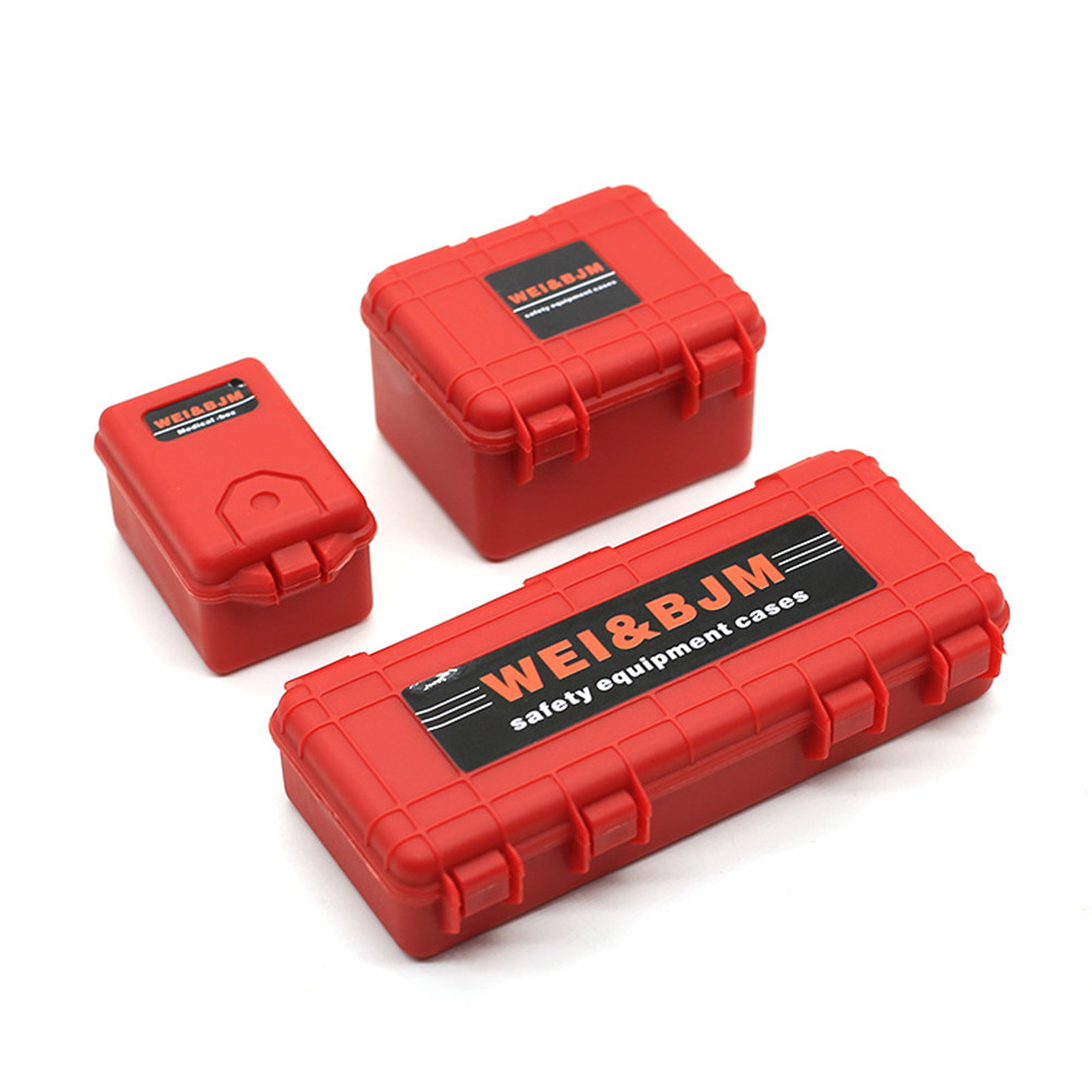 1/10 Simulation Climbing Car Decoration Luggage Suitcase for TRX4 SCX10 90046 Red suitcase
